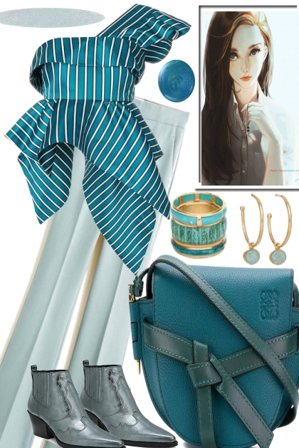 ICY BLUES FOR SPRING- Fashion set