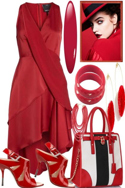 THE LADY SHE WEARS RED
