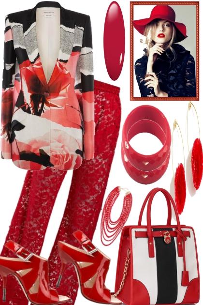 SOME BLACK, SOME RED, SOME WHITE- Fashion set