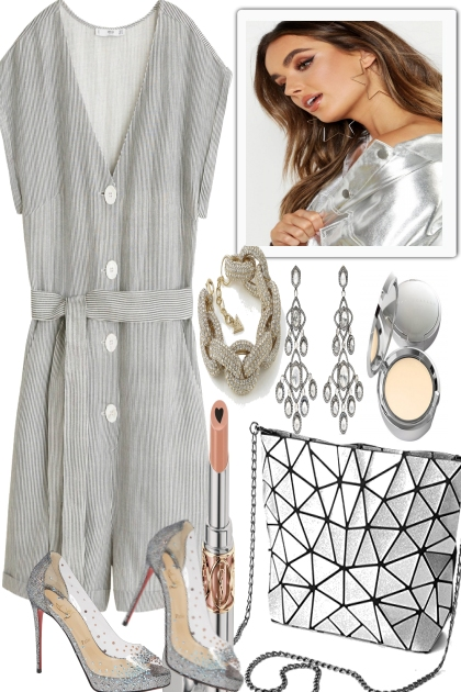 LIGHT GREY AND SILVER