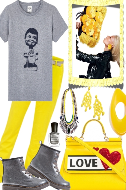 YELLOW IN LOVE WITH GREY