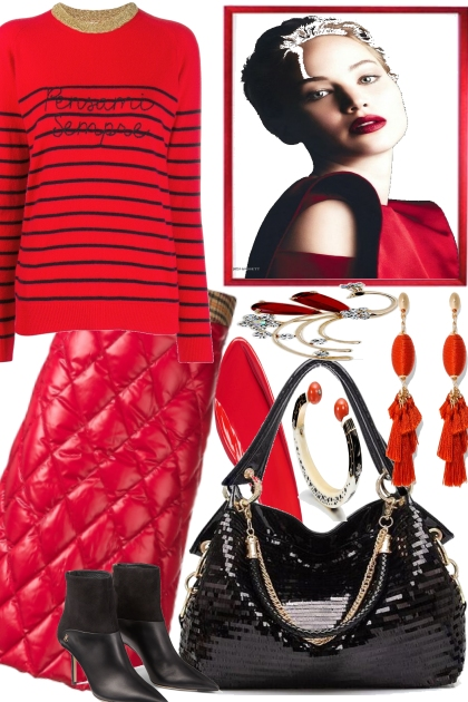 Fall in Red.- Fashion set
