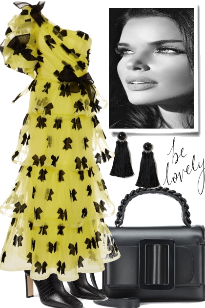 AGAIN: BLACK & YELLOW BUT FOR TONIGHT- Fashion set