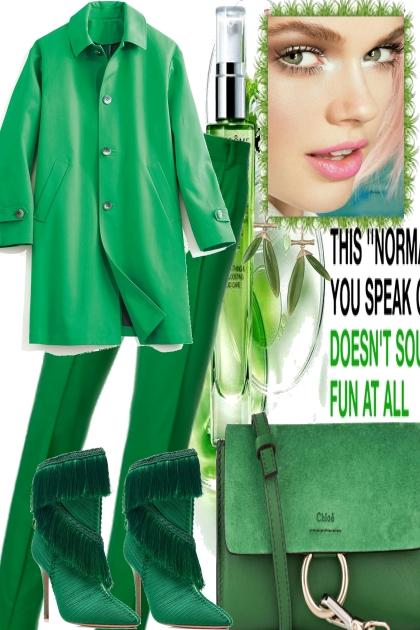 IN SPRING THINGS GET GREEN AGAIN