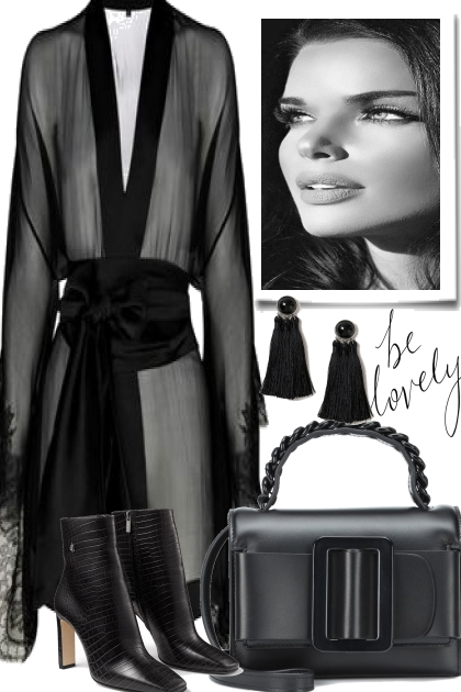 60 Second Style in Black- Fashion set