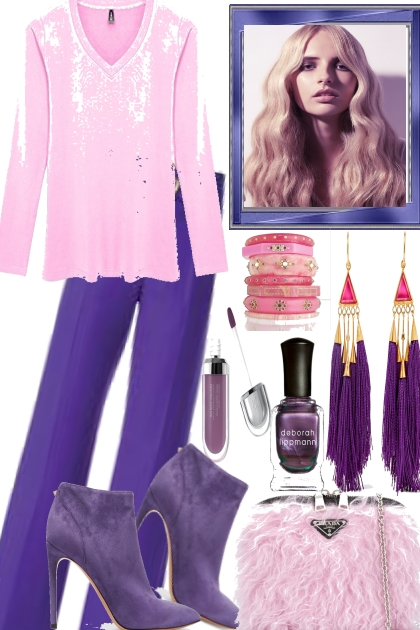 PURPLE ROSE...- Fashion set