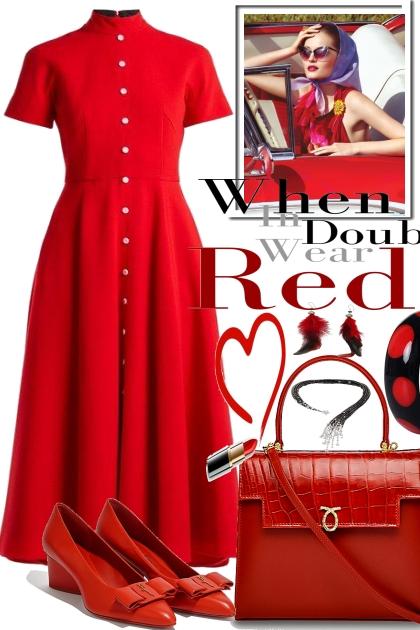 Lady wears Red