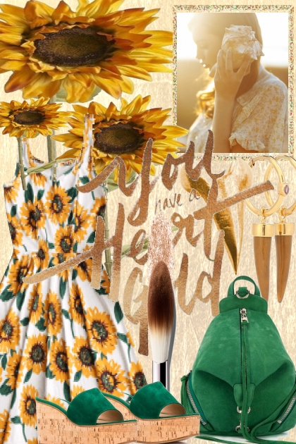 SUNFLOWERS AND A HEART OF GOLD