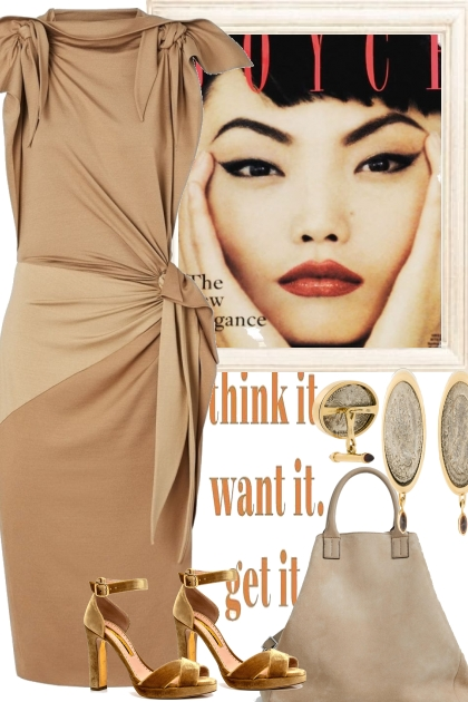 HER CHOICE TODAY, BEIGE- Fashion set