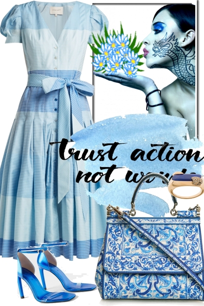 JUST THE BLUES- Fashion set