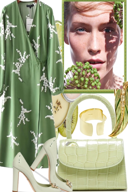 IN SPRING THE GREENS START- Fashion set