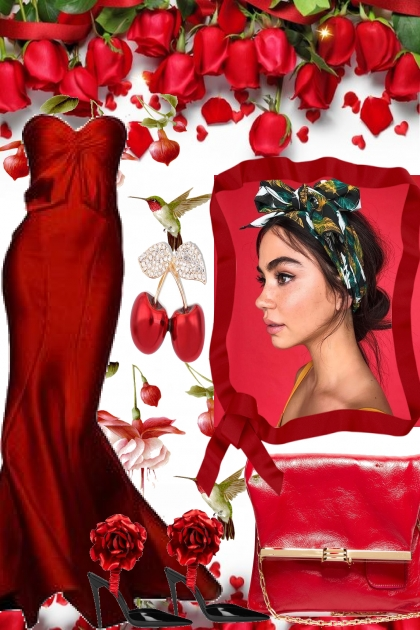 THE LADY WEARS RED