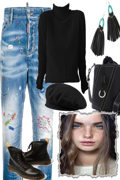 JEANS AND BLACK FOR FALL