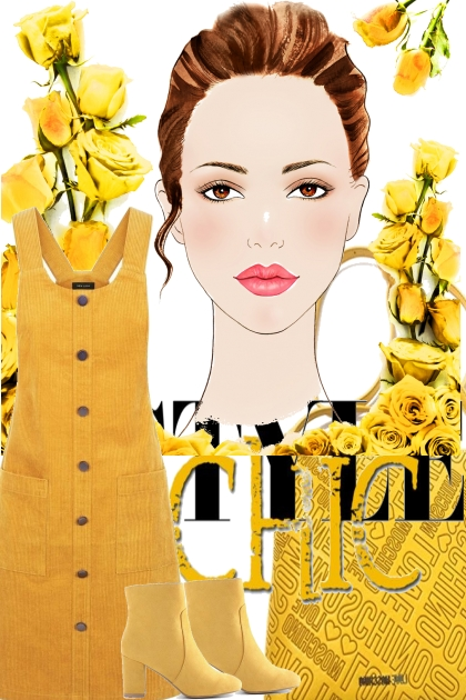 casual chic in yelleow