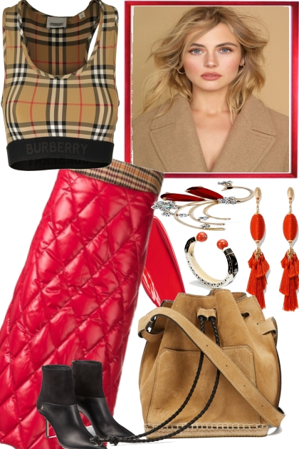 BURBERRY WITH RED