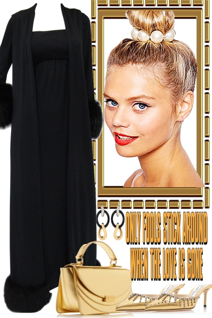 GLAMOUR, BLACK AND GOLD