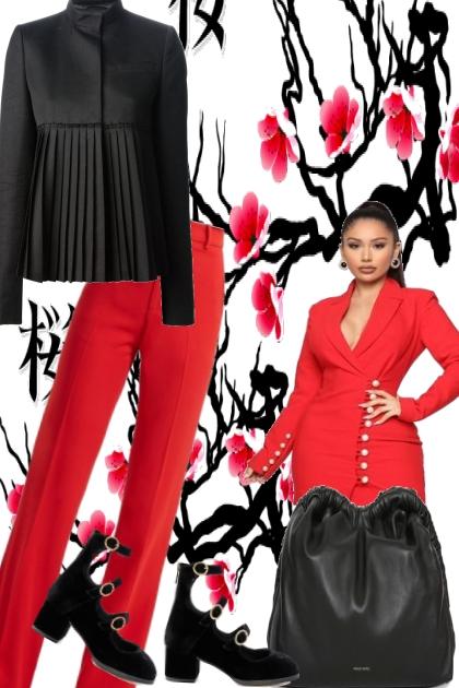 BLACK, RED
