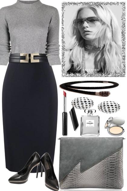 grey, black