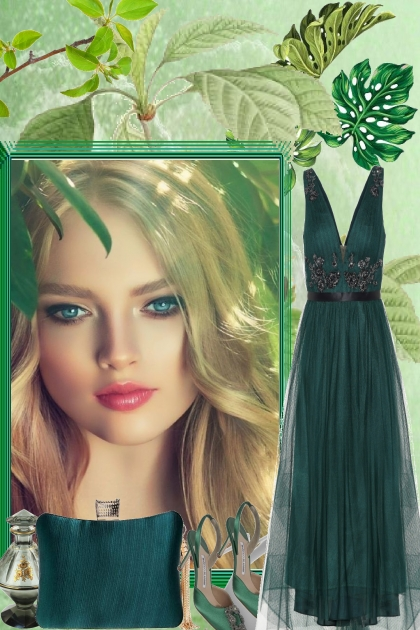 ELEGANT, DARK GREEN- Fashion set