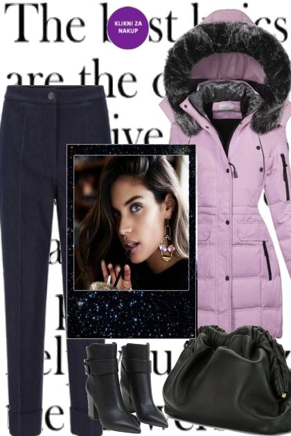 FALL IN BALCK LAVENDER- Fashion set