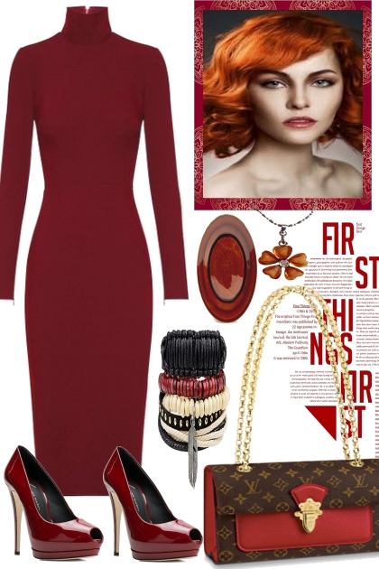 RED COLOR  OF  THE  DAY- Fashion set
