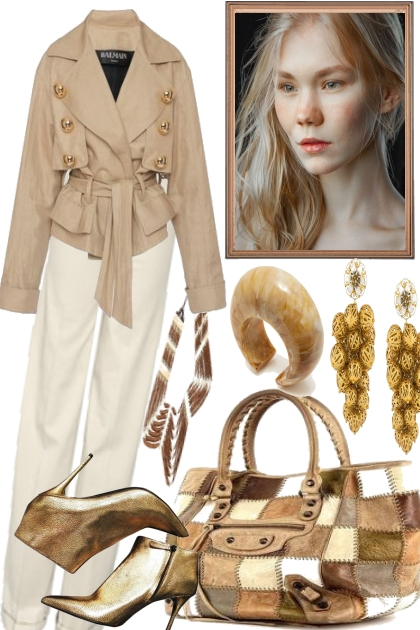 WITH GOLD- Fashion set