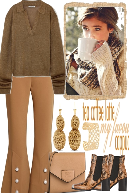 TEA, COFFEE, LATTE,- Fashion set