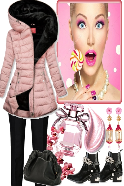 PINK COAT  FOR BLACK