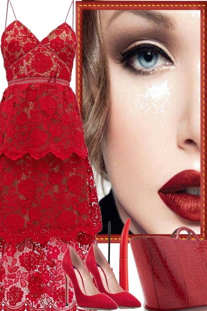 FOR THE PARTY RED- Fashion set