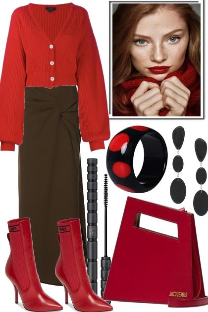 WEAR BLACK & RED..- Kreacja