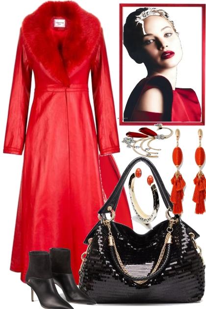 ELEGANT BLACK AND RED