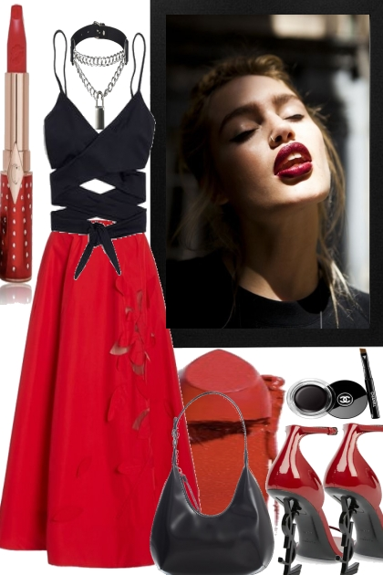 SO RED AND BLACK -