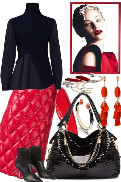 ELEGANT . BLACK AND RED