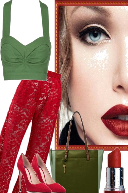 GREEN TOP RED LIPS