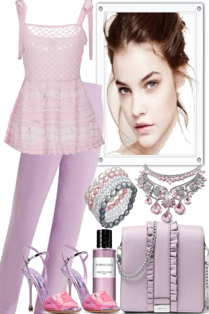 SUMMER IN LAVENDER--- Fashion set