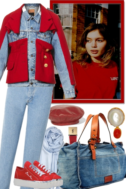 YOUR JEANS -WITH RED
