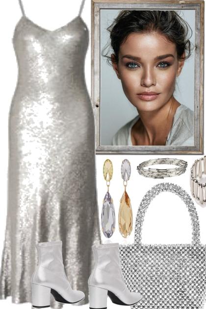 silver in the night- Combinaciónde moda