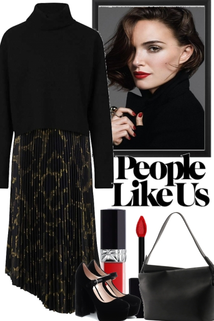 CLASSY WITH RED LIPS