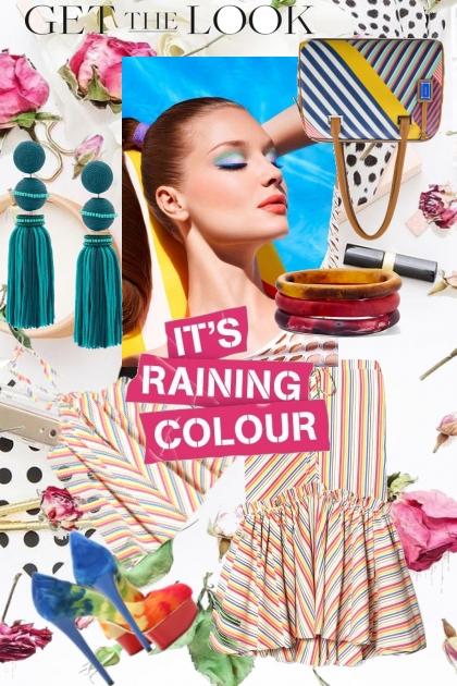it's raining:color