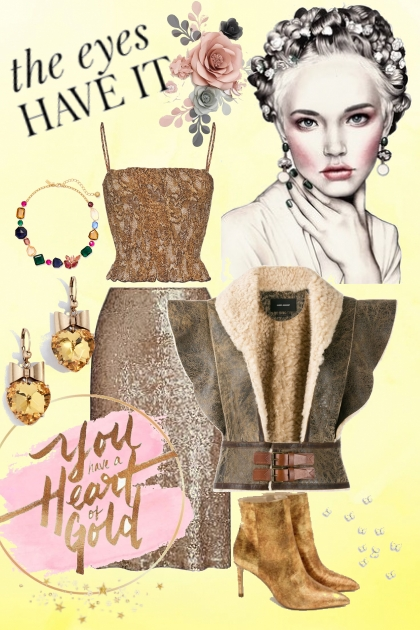Heart of gold- Fashion set