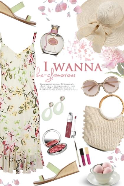 Floral dress - コーディネート