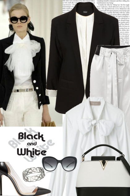 Chic lady in black and white- コーディネート