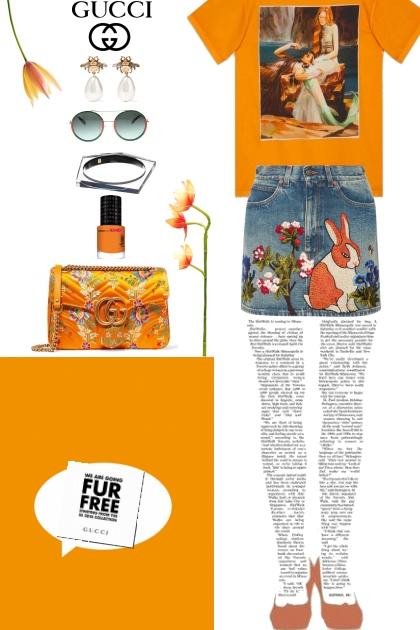 fur free in orange