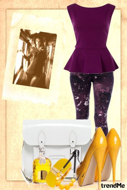 violet & yellow- Fashion set