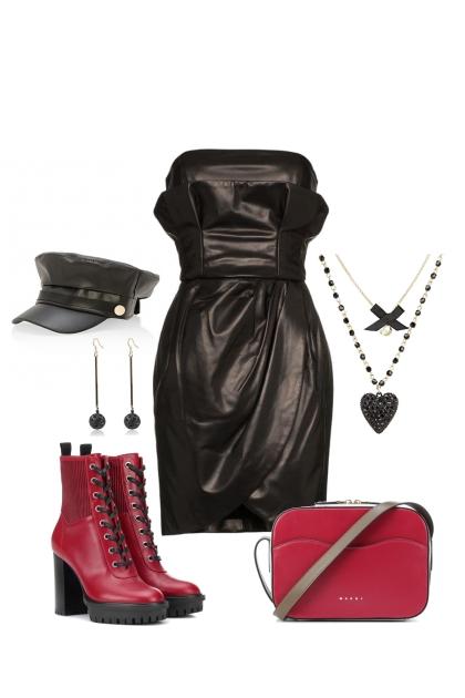leather dress 1