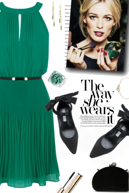 How to wear a Pleated Belt Dress!