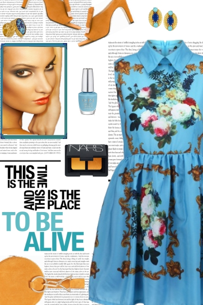 How to wear a Floral A-Line Dress!