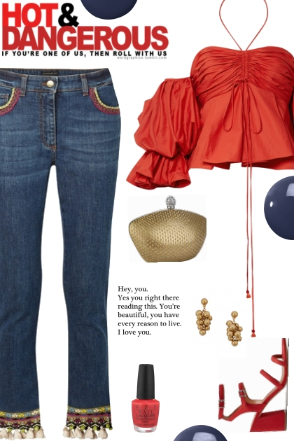 How to wear Embroidered Jeans!