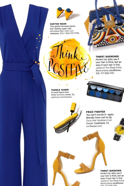 How to wear a Tie Waist V-Neck Jumpsuit!