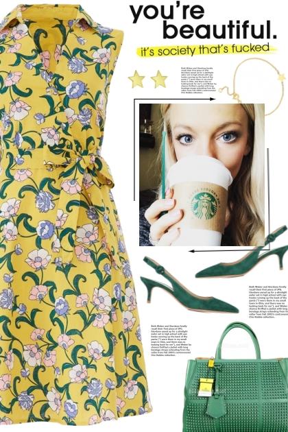 How to wear a Floral Print Collar Dress!